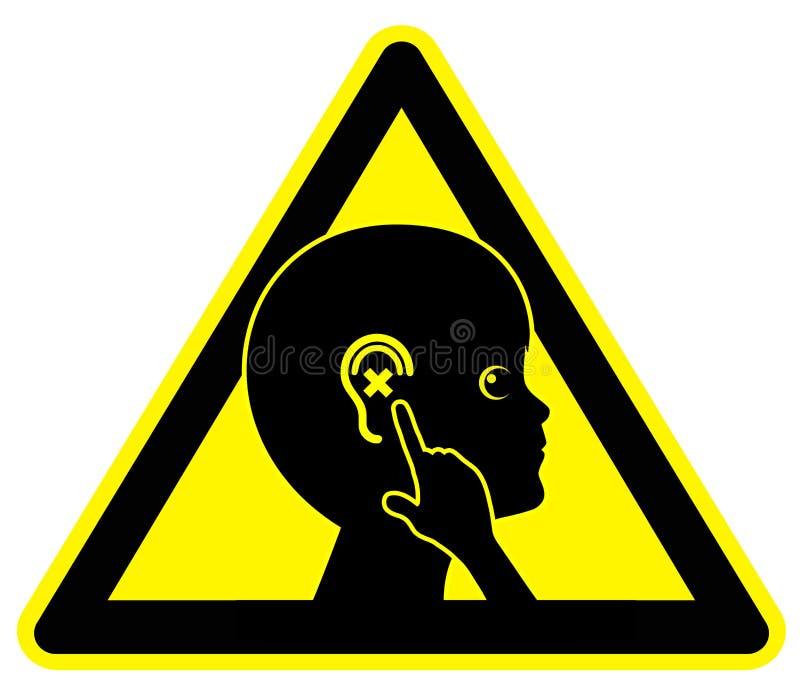 Niño duro de oído libre illustration
