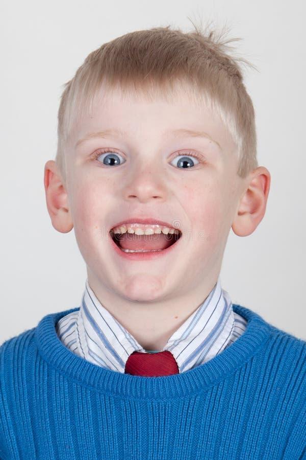 Niño emocionado imagen de archivo libre de regalías
