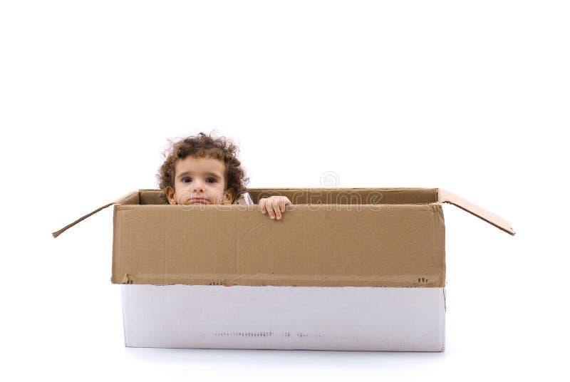 Niño en rectángulo fotos de archivo libres de regalías