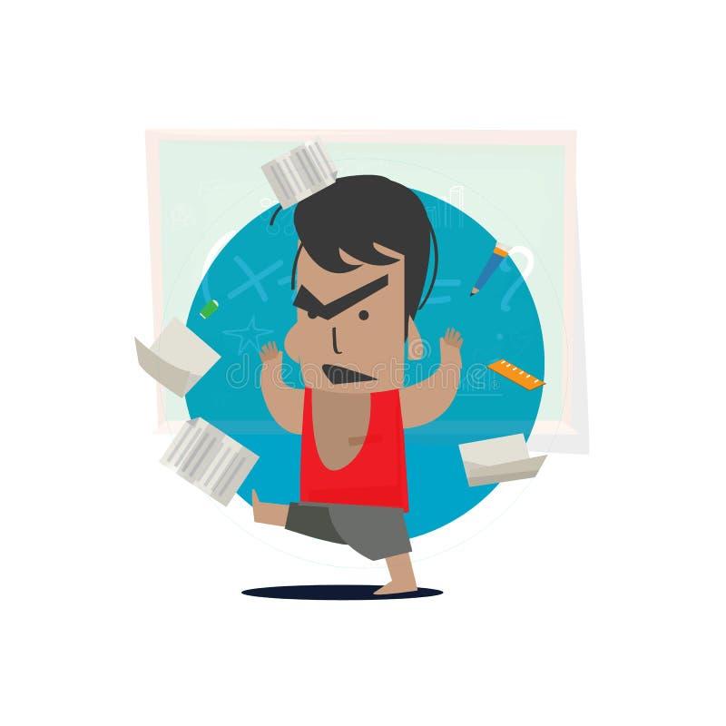 Niño enojado con inmóvil - ejemplo del vector libre illustration