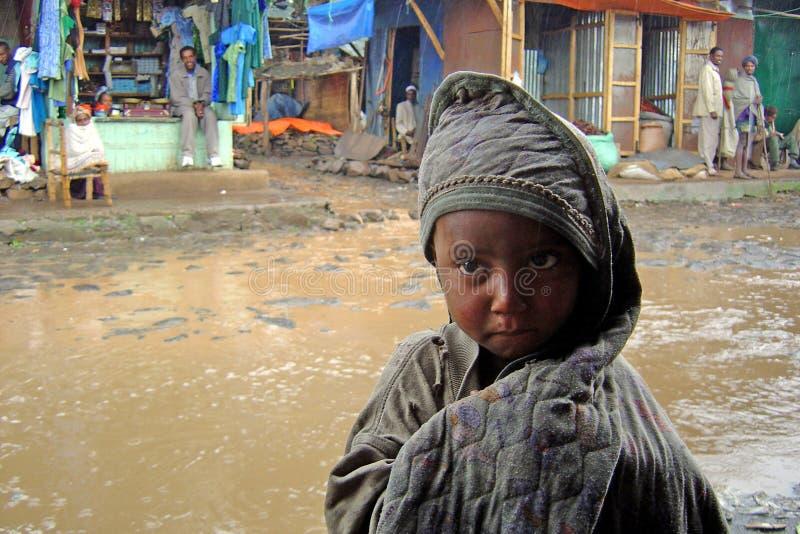 Niño etíope foto de archivo libre de regalías