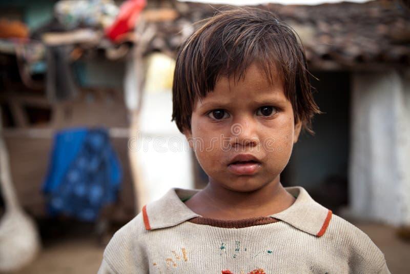 Niño femenino indio inocente fotografía de archivo libre de regalías