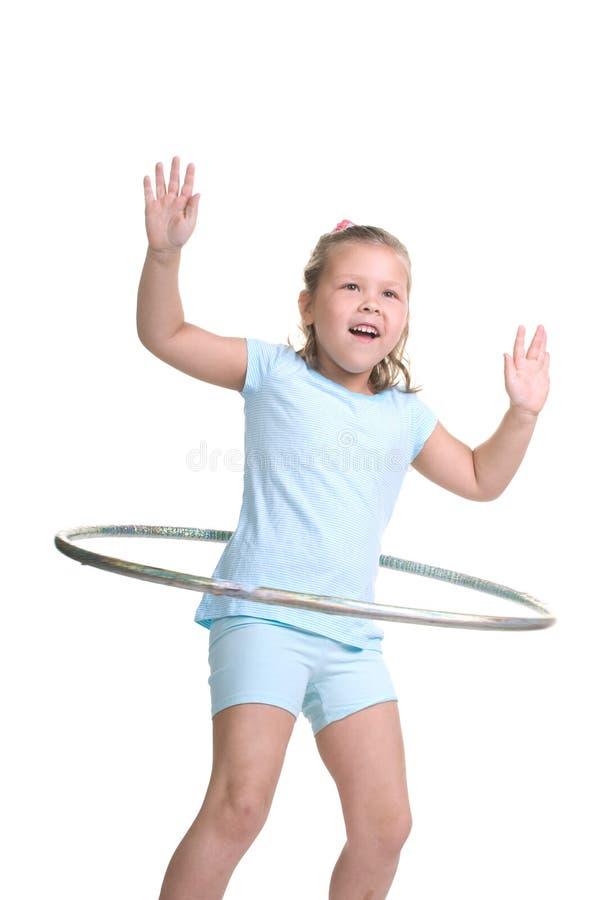 Niño hooping de Hula foto de archivo libre de regalías