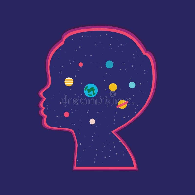Niño ideal por completo del universo ilustración del vector