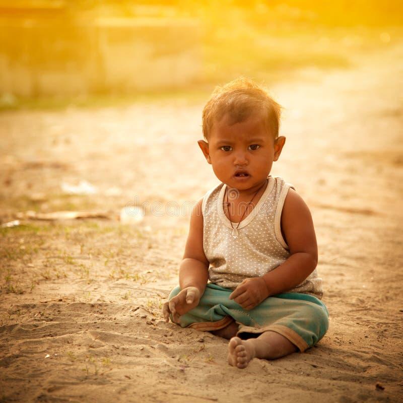 Niño indio inocente fotografía de archivo libre de regalías