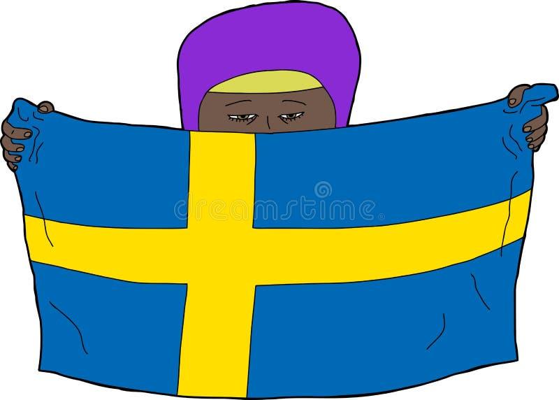 Download Niño musulmán sueco ilustración del vector. Ilustración de hembra - 41915510