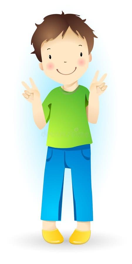 Niño pequeño. stock de ilustración