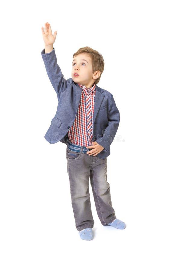 Ni o peque o con con su mano levantada para arriba foto de - Foto nino pequeno ...