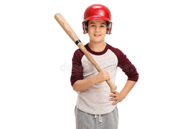 Niño pequeño con un bate de béisbol foto de archivo libre de regalías