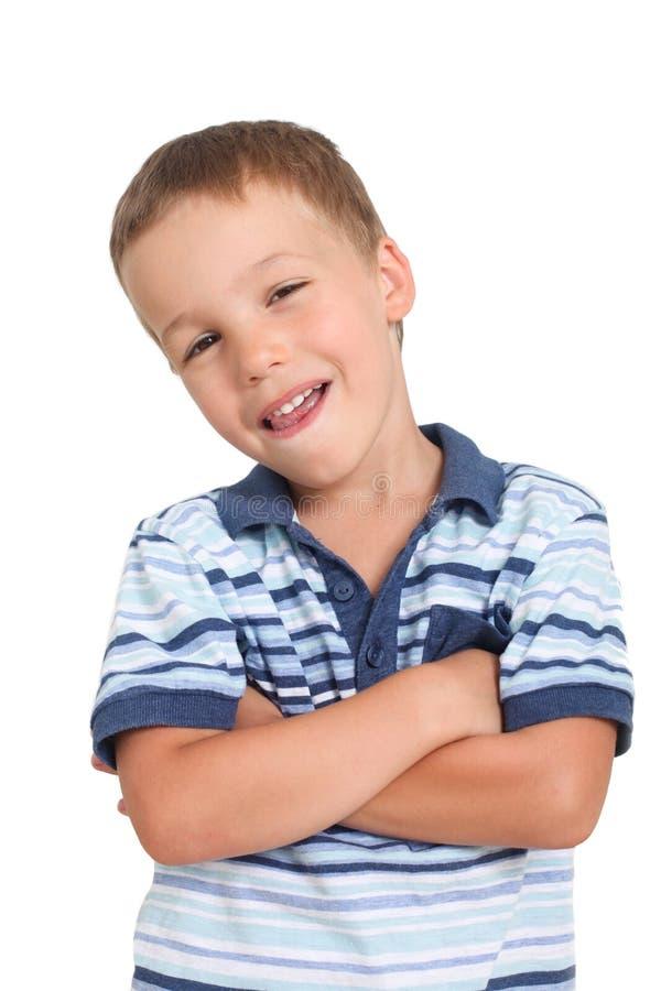 Niño pequeño con una actitud foto de archivo libre de regalías