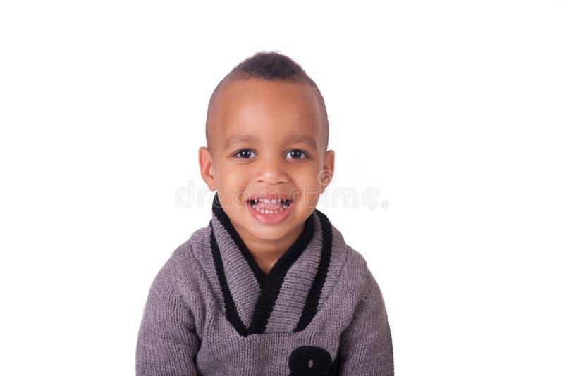 Niño pequeño del afroamericano del retrato imagenes de archivo