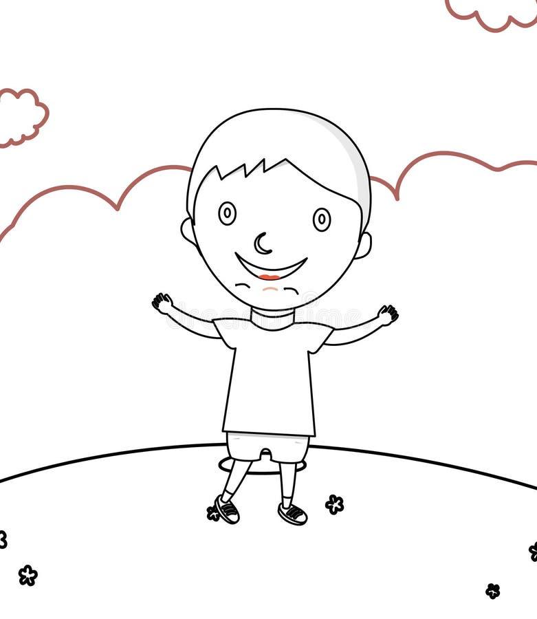 Asombroso Colorear Niño Azul Pequeño Viñeta - Dibujos Para Colorear ...