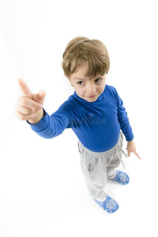Niño pequeño que señala hacia arriba imágenes de archivo libres de regalías