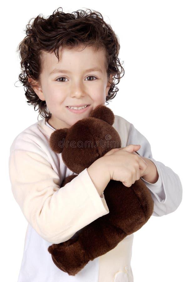 Niño preparado al slep imágenes de archivo libres de regalías
