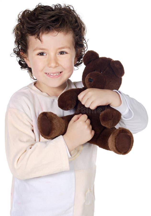 Niño preparado para dormir foto de archivo libre de regalías