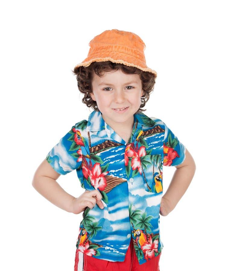 Niño preparado para su día de fiesta imagenes de archivo