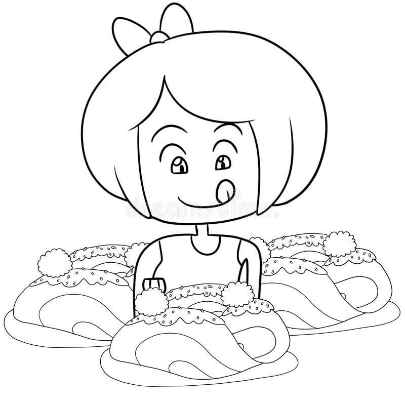 Niño Que Come La Página Del Colorante De Los Espaguetis Stock de ...