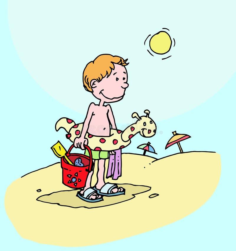 Niño que disfruta de verano stock de ilustración
