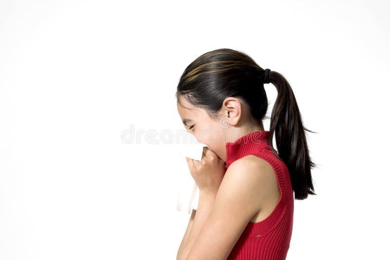 Niño que estornuda fotos de archivo