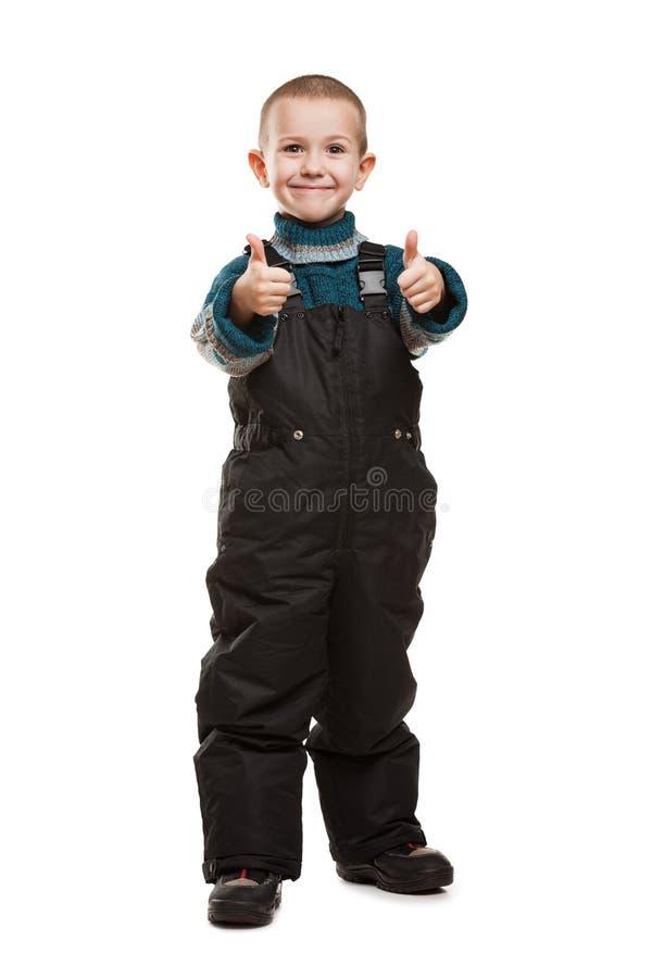 Niño que gesticula el pulgar para arriba imágenes de archivo libres de regalías