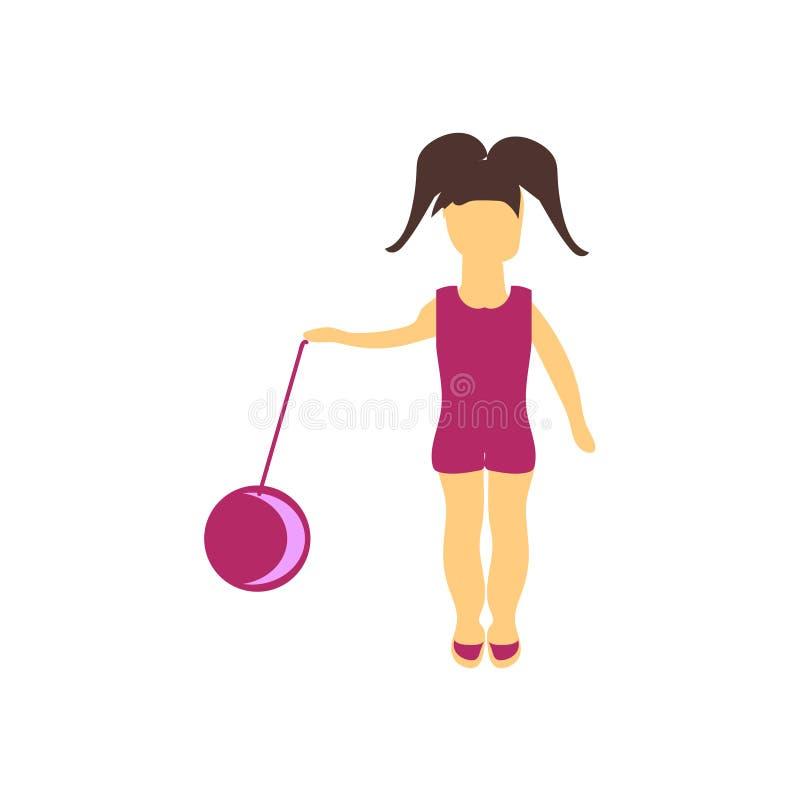 Niño que juega con la muestra y el símbolo del vector del vector de la bola aislados en el fondo blanco, niño que juega con conce stock de ilustración