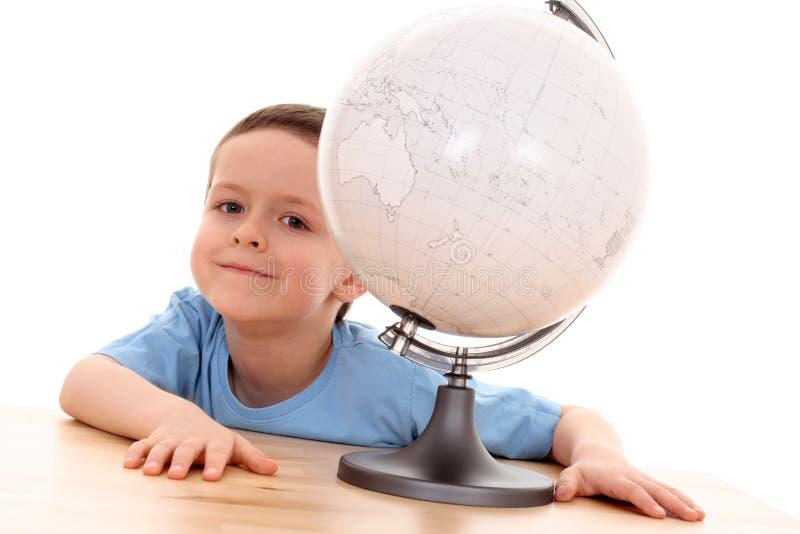 Niño y globo fotos de archivo libres de regalías