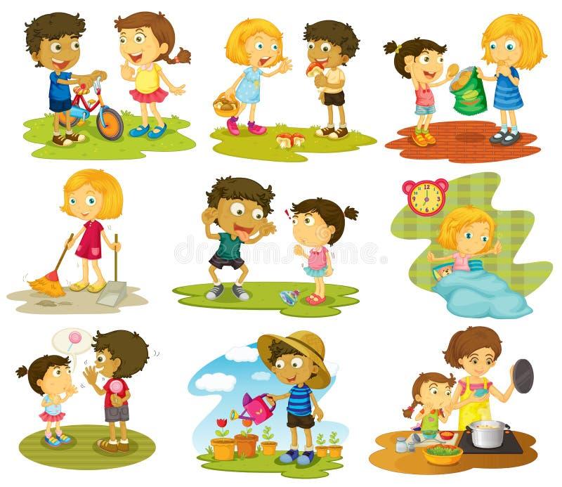 Niños ilustración del vector