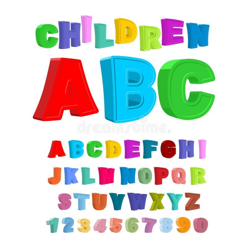 Niños ABC Letras grandes en estilo de los niños alfabeto de los bebés 3D F libre illustration