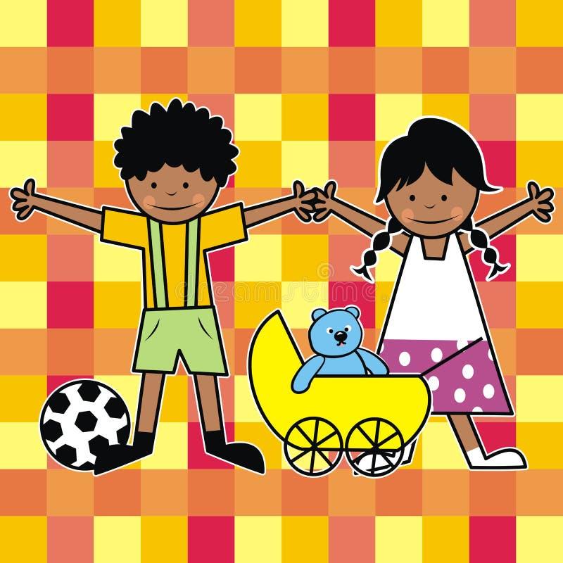 Niños africanos ilustración del vector