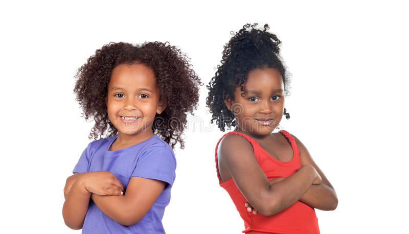 Niños africanos de las hermanas fotografía de archivo libre de regalías