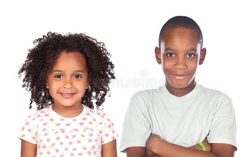 Niños africanos de los hermanos imagenes de archivo