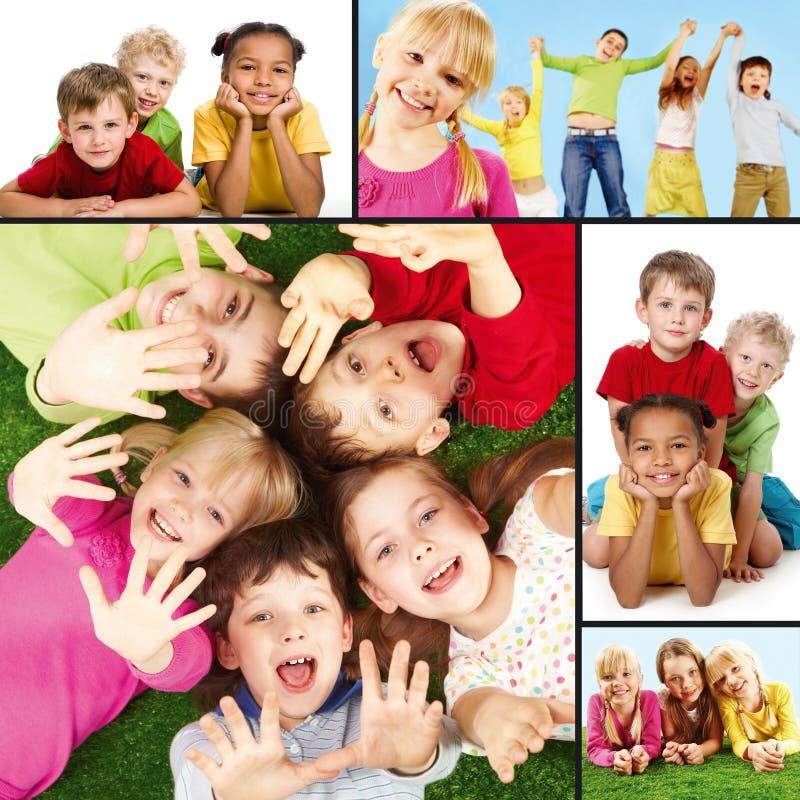 Niños alegres foto de archivo
