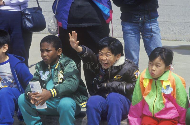Niños asiáticos y del African-American imágenes de archivo libres de regalías