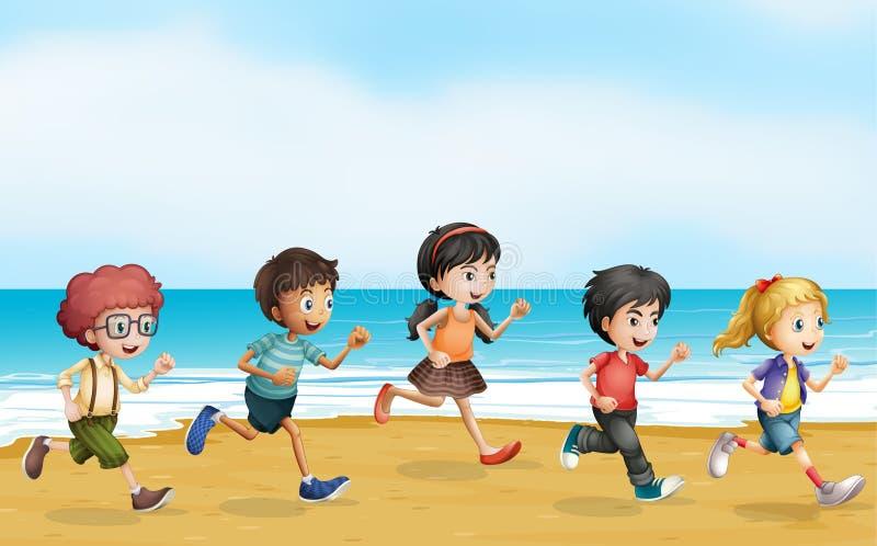 Niños corrientes ilustración del vector