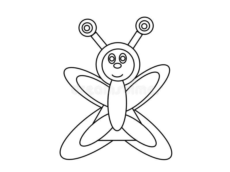 Niños de alta calidad de la mariposa que colorean las páginas libre illustration