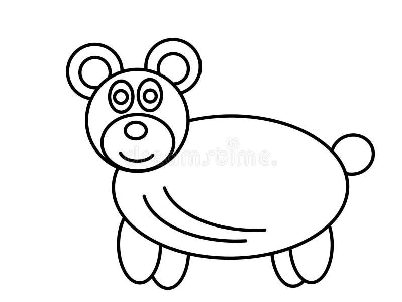 Niños de alta calidad del oso que colorean las páginas ilustración del vector