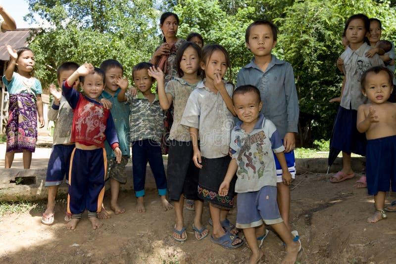 Niños de Hmong en Laos foto de archivo libre de regalías