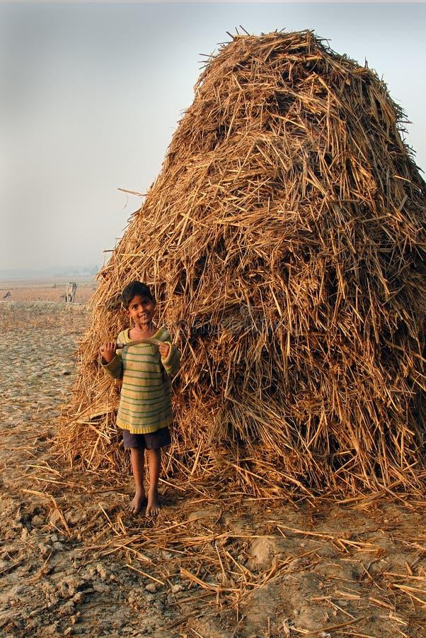 Niños de la aldea india imagen de archivo