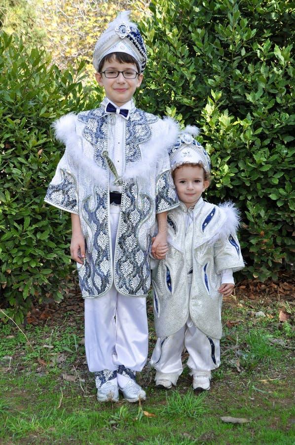 Niños de la circuncisión - niños de Sunnet foto de archivo libre de regalías