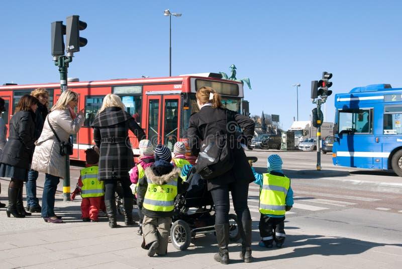 Niños de la escuela infantil. Estocolmo fotografía de archivo