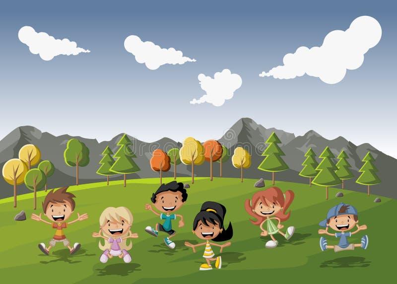 Niños de la historieta libre illustration