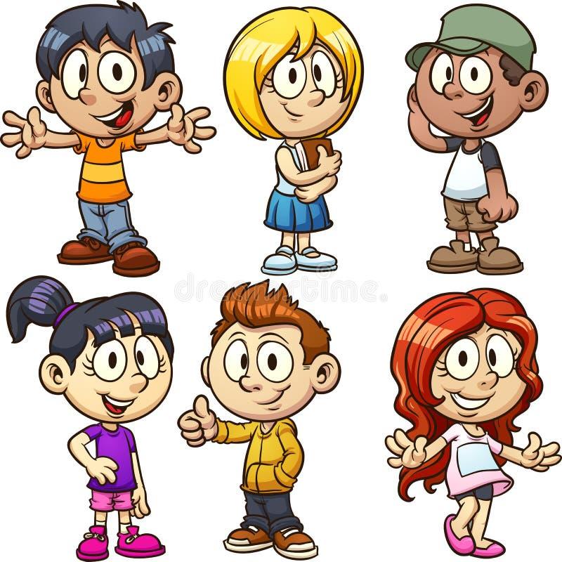 Niños de la historieta stock de ilustración