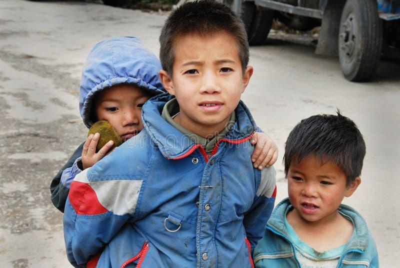 Niños de la montaña de la India imágenes de archivo libres de regalías