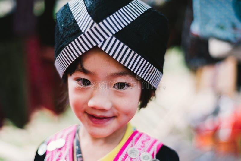 Niños de la tribu de la colina de Hmong fotografía de archivo