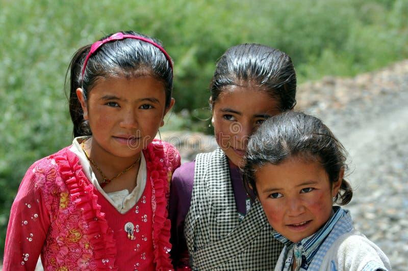 Niños de Ladakh (poco Tíbet), la India imagen de archivo libre de regalías