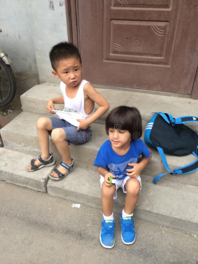 Niños de Pekín imagen de archivo
