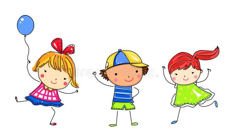 Niños del bosquejo ilustración del vector