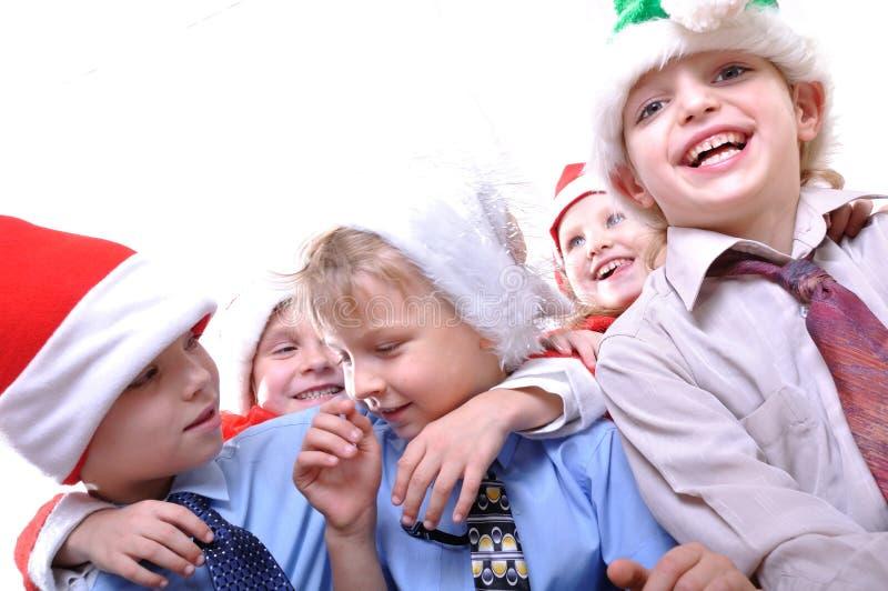 Niños del día de fiesta de la Navidad fotografía de archivo
