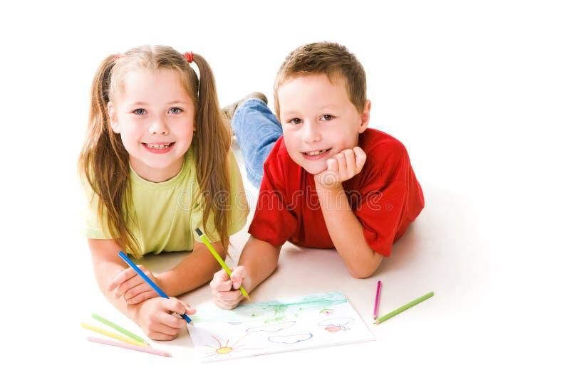 Niños del gráfico fotografía de archivo