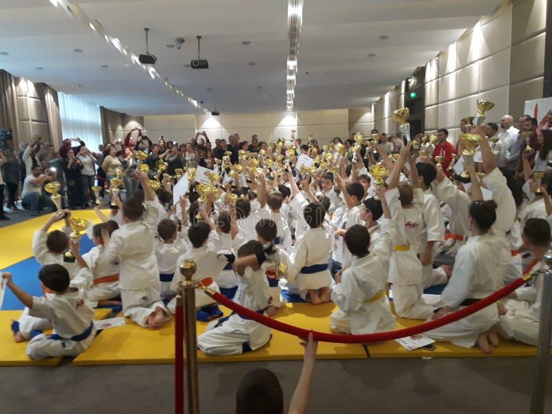 Niños del karate foto de archivo